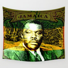 Marcus Garvey Jamaican Freedom fighter Wall Tapestry