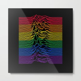 Unknown Pleasures Rainbow Remix Metal Print