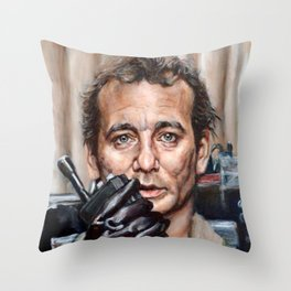 Bill Murray / Ghostbusters / Peter Venkman / Close-Up Throw Pillow