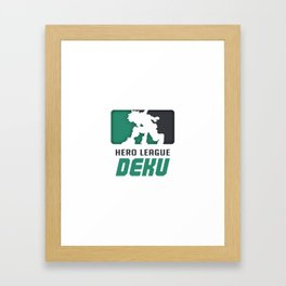 Deku Hero League Framed Art Print