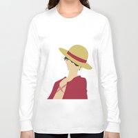 luffy Long Sleeve T-shirts featuring Luffy by Polvo