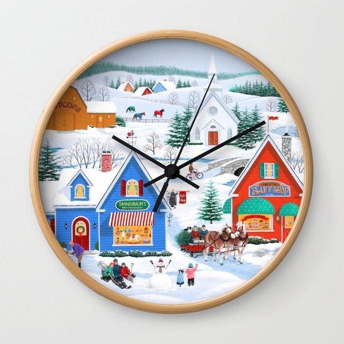 Wintertime in Sugarcreek Wall Clock