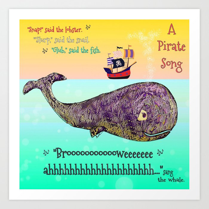 A Pirate Song Art Print by jtkbelle