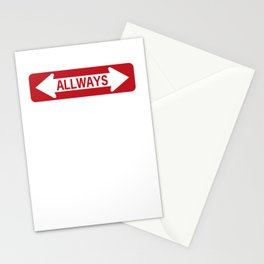 All ways road sign Stationery Cards