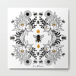 Queen Bee Metal Print