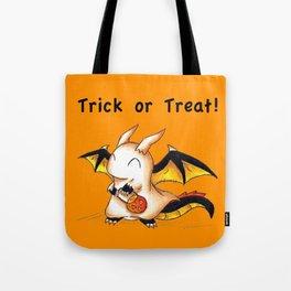 Trick or Treat Dragon Tote Bag