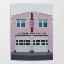 Central Fire Station - Marfa Poster