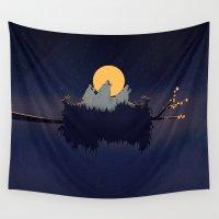 sound Wall Tapestries featuring Midnight Sound by Schwebewesen • Romina Lutz