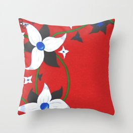 One of Two: Flower Duo Left Throw Pillow