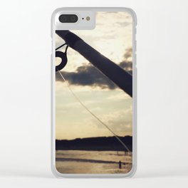 Pier Fishing Clear iPhone Case