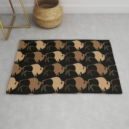 Native American Buffalo Running Rug