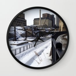 Stone Arch Bridge-Minneapolis, Minnesota Wall Clock