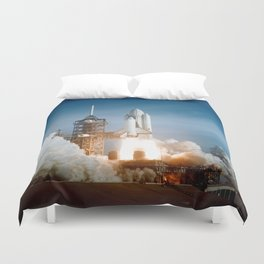 First Space Shuttle Launch Duvet Cover