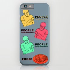 PEOPLE taking pictures of FOOD iPhone 6s Slim Case