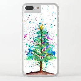Happy Tree Clear iPhone Case