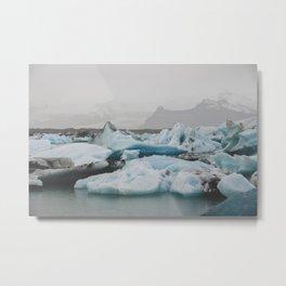 A Sea of Ice Metal Print