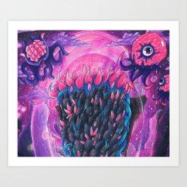 Nebula Pillar Terraria Art Print