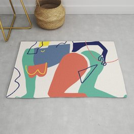 Figurative abstract  Rug