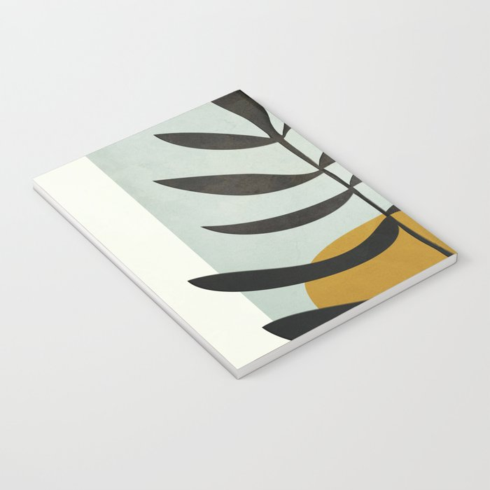 Soft Abstract Large Leaf Notebook