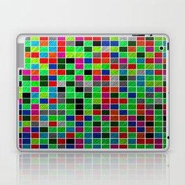 Metallic Colour Grid Laptop & iPad Skin