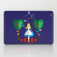 alice in wonderland iPad Cases featuring Wonderland by AmadeuxArt