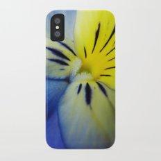 Flower Blue Yellow iPhone X Slim Case