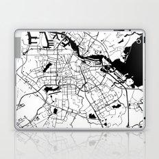 Amsterdam White on Black Street Map Laptop & iPad Skin