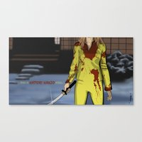"kill bill Canvas Prints featuring ""Kill Bill"" by Kenneth J. Franklin"