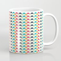 triangle Mugs featuring triangle by Sébastien BOUVIER