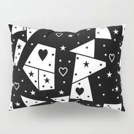 Black and White Popart by Nico Bielow Pillow Sham