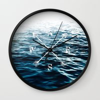 Winds of the Sea Wall Clock