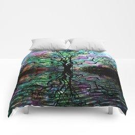 Van Goghs Aurora Borealis Reflection Comforters