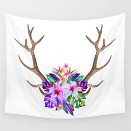 Floral Horn Wall Tapestry