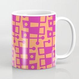 Mid Century Modern Abstract 213 Magenta and Orange Coffee Mug