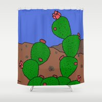 desert Shower Curtains featuring desert by Ilse Nonsense