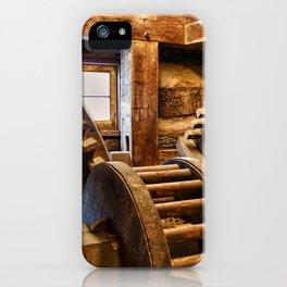 Wooden Gears iPhone Case