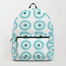 Baby Blue Evil Eye Backpack
