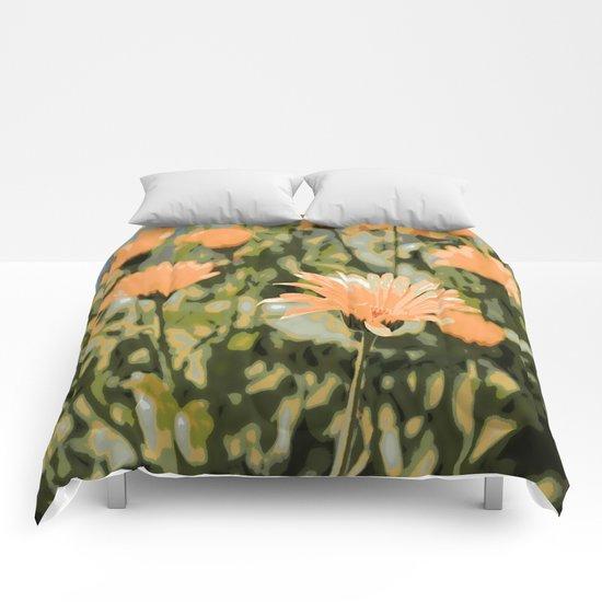 Early Evening Flower Garden Comforters