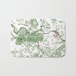 Berlin city map minimal Bath Mat