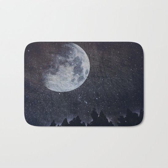 Starry moon  Bath Mat