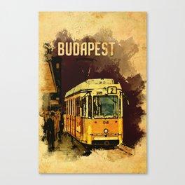 Retro Tram 2 in Budapest Canvas Print