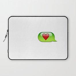 Emoji heart conversation case Laptop Sleeve