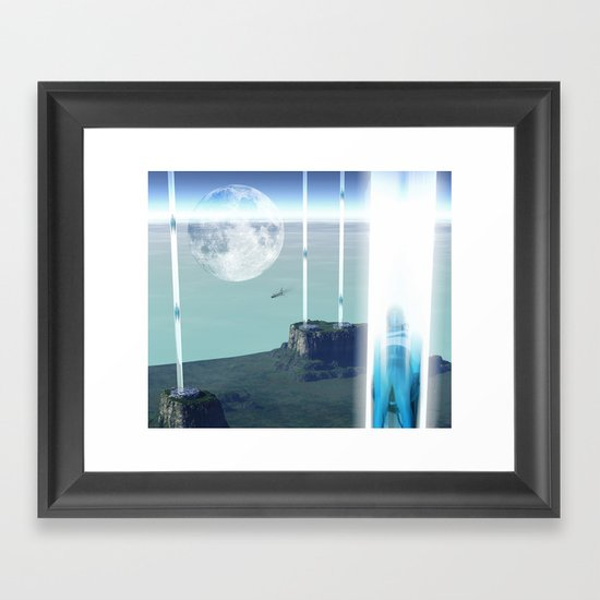 space elevator - transfer station 2099 Framed Art Print