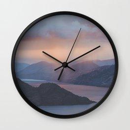 Pincushion Mountain Wall Clock