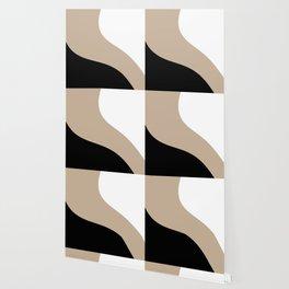 Simple Waves -Black & White Wallpaper