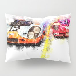 Le Mans Chase Pillow Sham