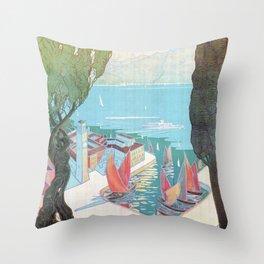 1920 Riva Del Garda Throw Pillow