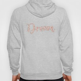 Dream Rose Gold Glitter on White Marble Hoody