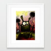 creepy Framed Art Prints featuring creepy by Katja Main