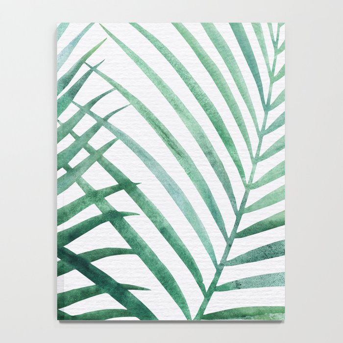 Emerald Palm Fronds Watercolor Notebook